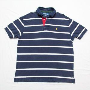 Ralph Lauren Polo Shirt striped Yellow pony Large